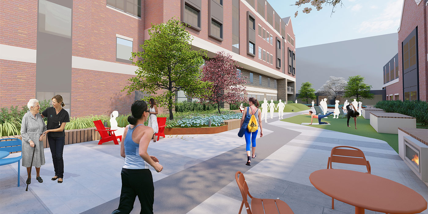 Baystate Medical Center Hospital of the Future Roof Garden