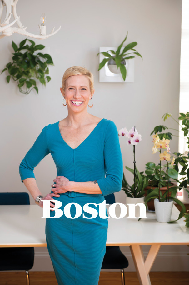 "Photo of Lynne Giesecke featured in Boston Magazine's ""Women in Design"" edition"