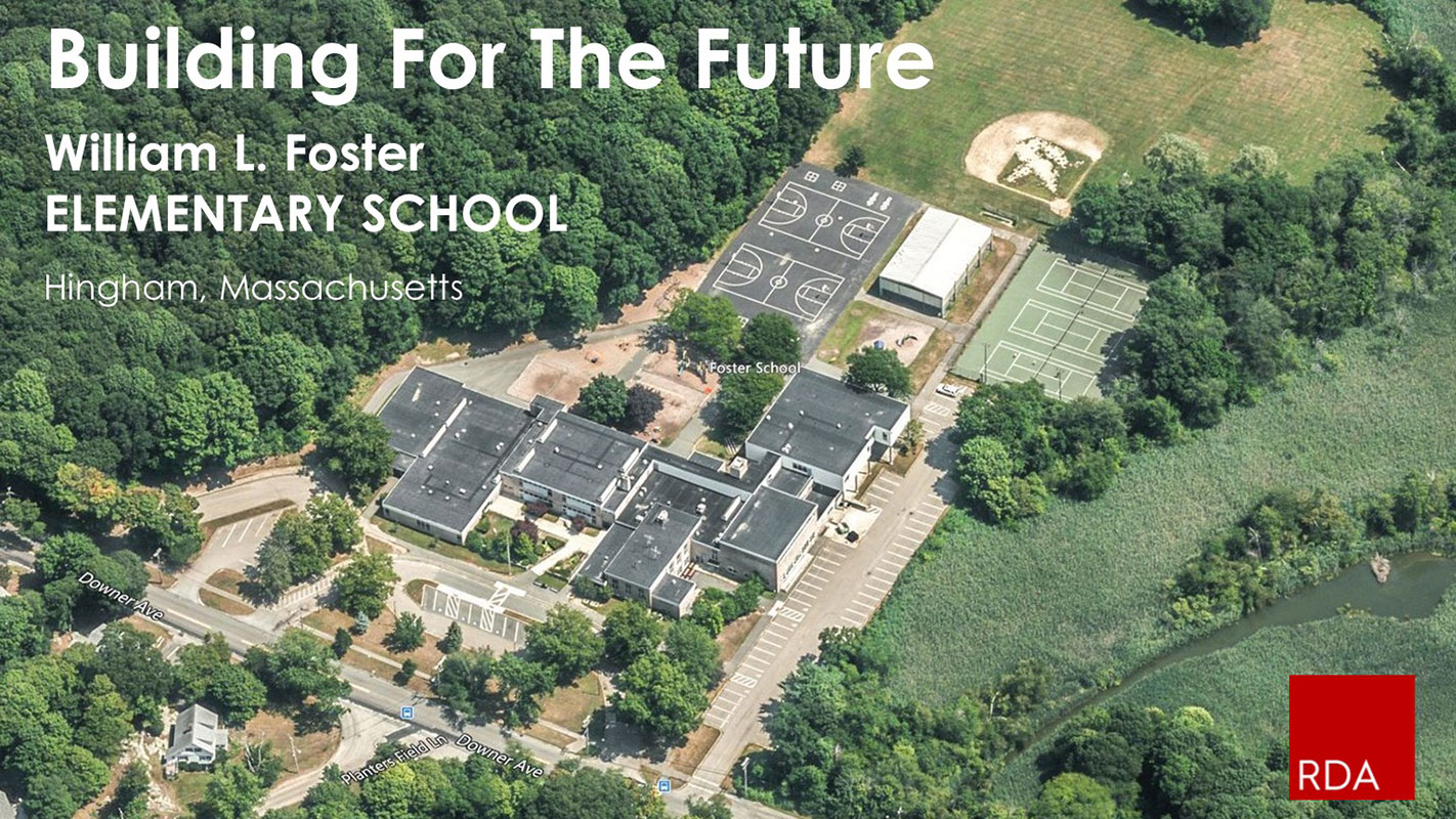 Overhead view of Foster Elementary School project awarded to Studio 2112